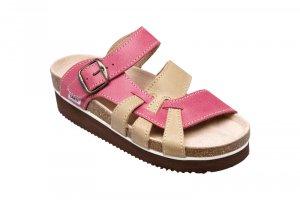 5bfb5a5c0f9 dámské pantofle Santé 240 9 červeno-béžové
